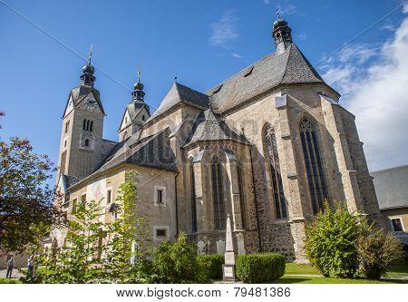 Maria Saal church (Gospa Sveta), Klagenfurt, Austria