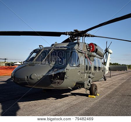 Modern Military Helicopter