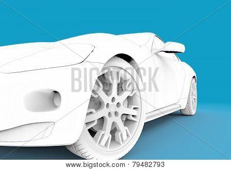 Toon White Car