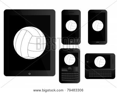 Mobile Devices With Ball Black