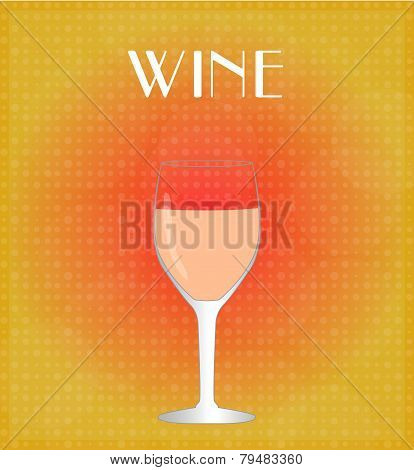 Drinks List Rosé Wine With Red & Golden Background