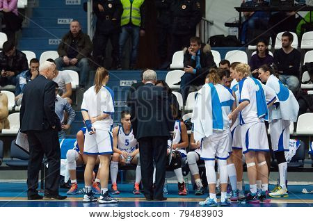 Dynamo Moscow Team On Timeout