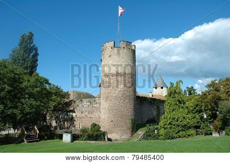Castle Tower In La Tour-de-peliz In Switzerland