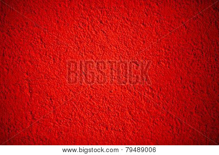 Red empty wall