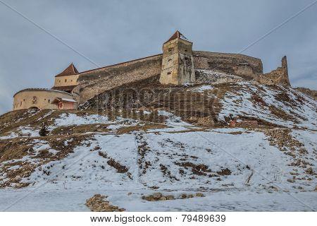 Medieval Fortress In Rasnov