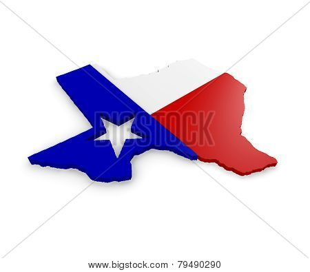 3D Map Of Texas