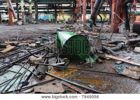 Abandoned Industrial Dirty Workshop