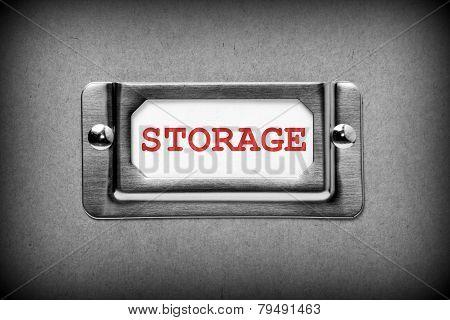 Storage Drawer Label