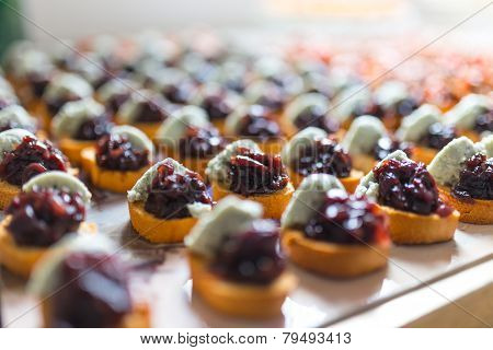 Canapes With Pate And Jam