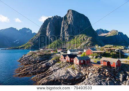 Scenic town of Reine  village, Lofoten islands, Norway