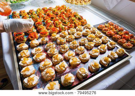 Arranging Catering Food Specialties
