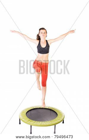 Gymnast On Trampoline