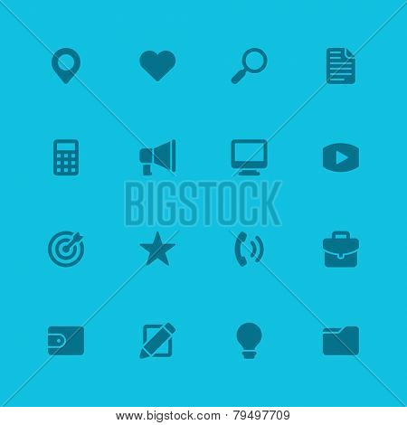 Flat icons vector set web site design, infographics, ui and mobile apps. Objects, business, office, communication and marketing items