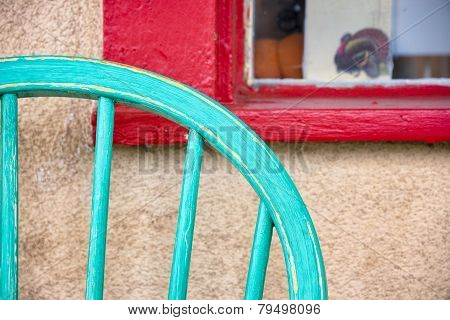Colorful Antique Chair And Window
