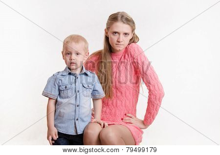 Young Mother Angry With His Young Son