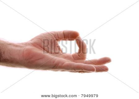 Yogic Gyan Hand Position Isolated On White