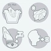 picture of hazard symbol  - Package Symbols for Chemicals concerning health hazard - JPG