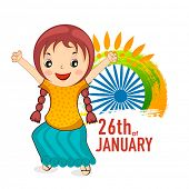 pic of ashoka  - Cute little girl celebrating 26th of January - JPG