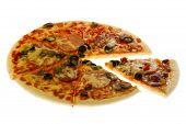 Pizza On White