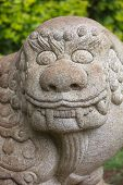 stock photo of chinese unicorn  - Chinese Stone Chimera Known as a Qilin