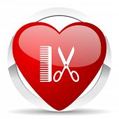 picture of barber  - barber valentine icon    - JPG