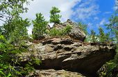 picture of ural mountains  - Unusual rock of mountain in the afternoon - JPG