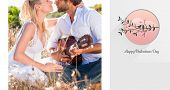 pic of serenade  - Handsome man serenading his girlfriend with guitar against love birds - JPG