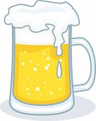 picture of beer mug  - Vector illustration isolated on white background  - JPG