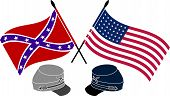 foto of civil war flags  - American Civil War - JPG