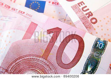Ten euro banknotes