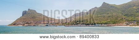 Panorama Of Hout Bay Seen From The Bronze Leopard  Sculpture