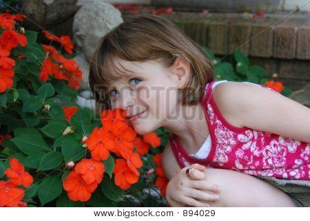 Rachel And Flowers