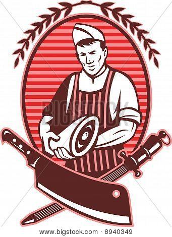 butcher cutter meat cleaver knife