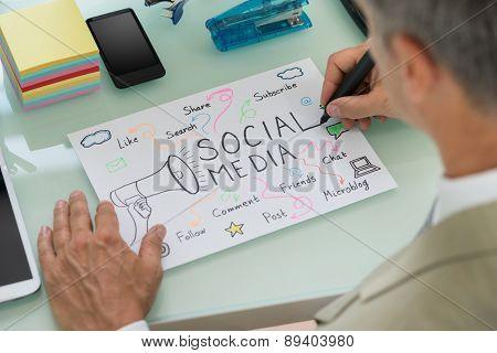 Businessman Planning Social Media Strategy