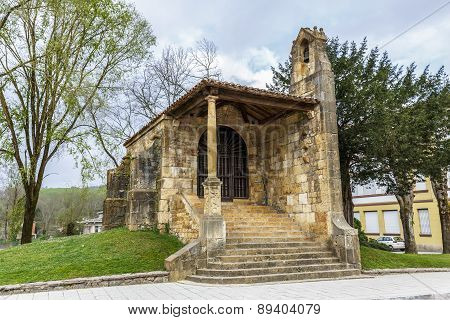 Chapel Of The Holy Cross In Cangas De Onis Asturias.