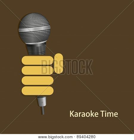 vector modern karaoke time background.