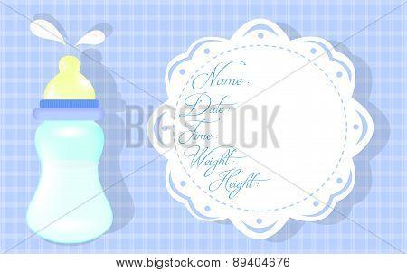 Baby boy shower card