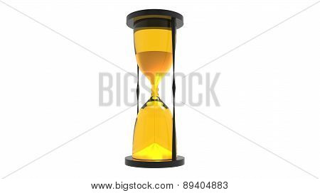 Hourglass Render In Yellow Tones