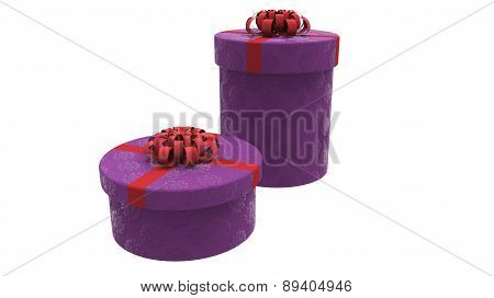 Two Gift Boxes In Purple