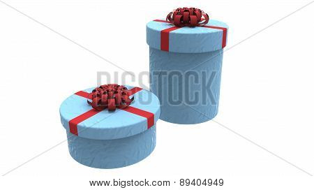 Two Gift Boxes In Blue