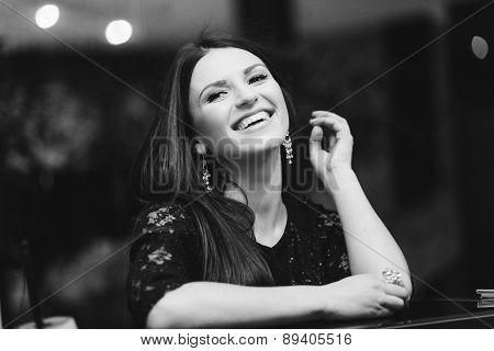 beautiful dark-haired woman