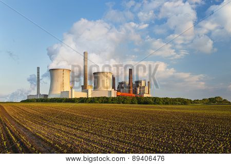 Power Station In The Evening