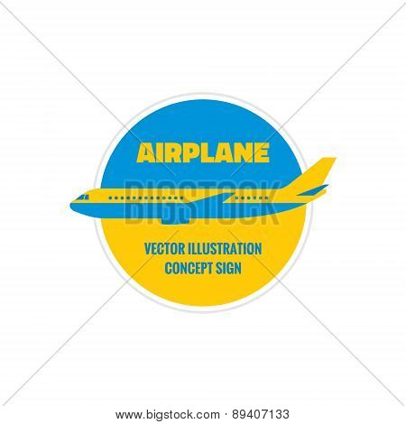 Airplane - vector logo concept illustration.