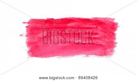 Abstract brush strokes, red watercolor background, vector