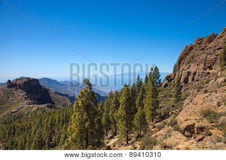 Gran Canaria, Approach To Roque Nublo