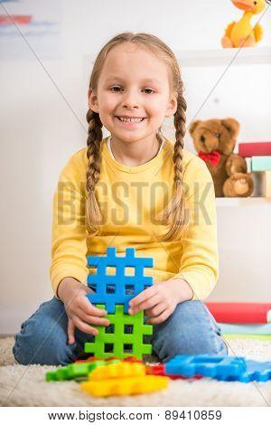 Girl With Lego