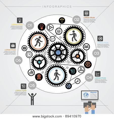 Infographics business background. Modern Business Concept , Info Graphic Elements. The idea of teamwork and success
