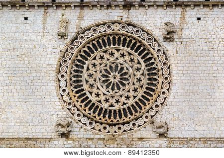 Rose-window, Assisi,italy