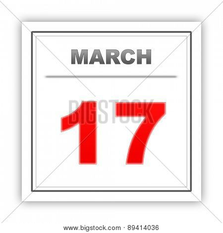 March 17. Day on the calendar. 3d