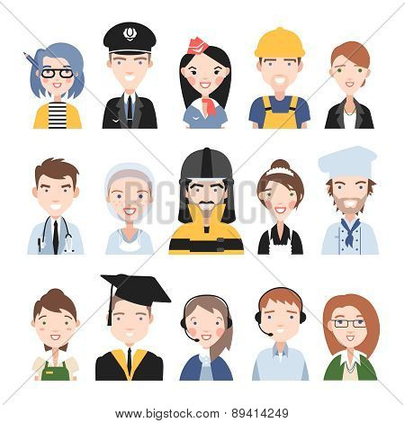 People of different professions.